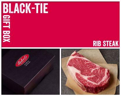 Black-Tie Gift Box: 2 (16 oz.) USDA Dry-Aged Prime Boneless Rib Steaks